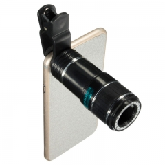 Universal 12X Zoom Optical Clip Telephoto Telescope Camera Lens For Mobile Phone Lens Camera Zoom as shown one size as shown one size