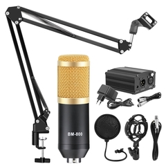 bm-800 Studio Condenser Microphone With Filter Phantom Power Mic Kits