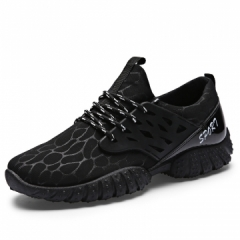 Men's mesh breathing shoes casual running shoes men's sports shoes black 39