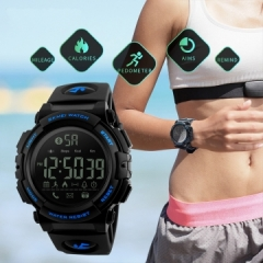 fashion Smart Watch Pedometer Waterproof Sports Watches Remote Camera Call Reminder Bluetooth black