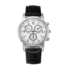 Men Fashion Business Blue-Ray Glass Watch Geneva Wristwatch smart watches white