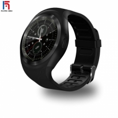 fashion Fh brand hot touch screen bluetooth music smart watch TF smart watches black