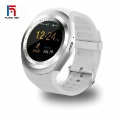 fashion Fh brand hot touch screen bluetooth music smart watch TF smart watches white