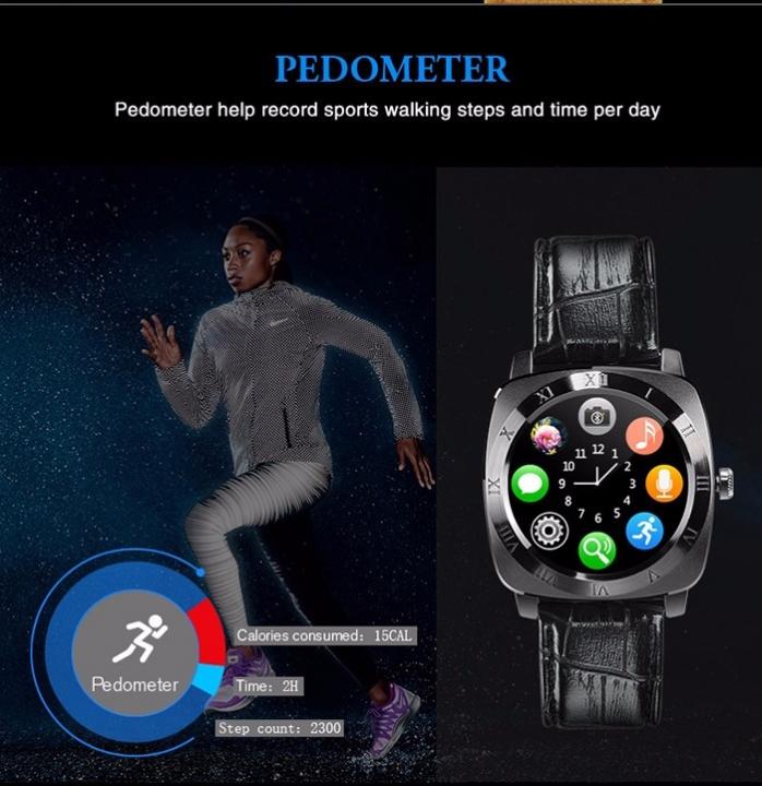fashion Smart Watch X3 Smart Watch Bluetooth camera SIM Watch Mobile pedometer Watch black
