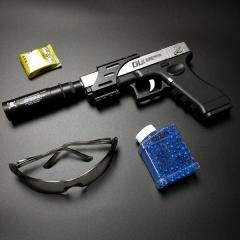 fashion High Quality CS Battle toys guns water bullet Crystal Pistol Can launch bullets black 31cm x 15cm