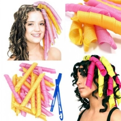 18Pcs/Set DIY Soft Hair Curlers Hair Rollers Magic Hair Rollers 55cm Curl Hair Styling Tool Random random One size