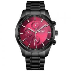 Bosck Men Brand Sports Watch Stainless Steel Watchband Waterproof Male Quartz Watch red