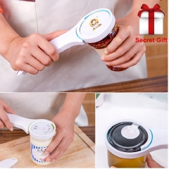 Kitchen Creative Tools 3in1 Multifunction Can Opener Screw Cap Jar Bottle Wrench Openers Green random