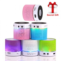 LED Bluetooth Speaker Mini Speakers Hands Free Portable Wireless Speaker Audio Music Player white one size
