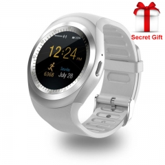 Bluetooth Y1 Smart Watch Relogio Android Smartwatch Phone Call SIM TF Camera white one size