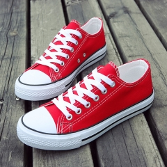New Fashion Men Five Pointed Star Sneakers Boy Students School Shoes Low-cut Vans Canvas red 39