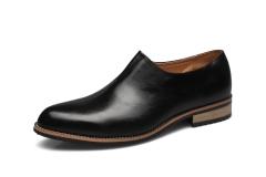 Personality Design Men Leather Upper Pointy Slip On Formal Shoes Gentlemen Leisure Fashion Loafer black 37