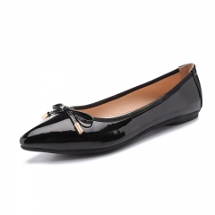 Elegant Women Pointy Slip On Flats Size 35-41 Lady Court Office Shoes Casual Leisure Ballerinas black 35