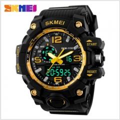 Sports Watches LED Military Waterproof Wristwatch Fashion Sport Men's Quartz Analog Digital Watch gold