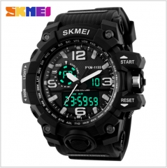 Sports Watches LED Military Waterproof Wristwatch Fashion Sport Men's Quartz Analog Digital Watch black