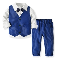Fashion Business Kids Clothing Set 4 Pieces Boy Clothing Sets Children's Clothes Sets Birthday Party white 80