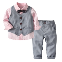 Fashion Kids Clothing Set 4 Pieces Boy Clothing Sets Children's Clothes Sets Birthday Party Clothes picture color 90
