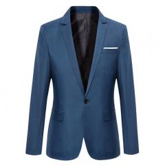 Autumn Suit Blazer Men Fashion Slim Male Suits Casual Solid Color Masculine Blazer Size light black s