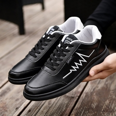 New autumn and winter wild white shoes men's shoes casual shoes British sneakers black 39