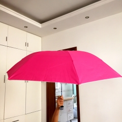 Ordinary tri-fold creative umbrella Short handle sunscreen umbrella