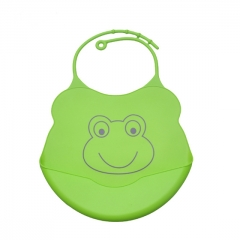 2 PCS Baby Silicone Waterproof Easily Wipes Clean Feeding Bibs Saliva Unisex Kids Aprons Blue+Green One Size