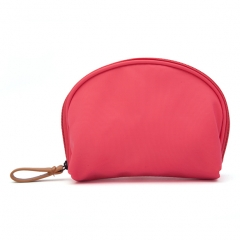 Women Portable Nylon Waterproof shell travel Hand-held cosmetic makeup package bag case Watermelon Red 20*16*7 cm