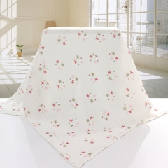 Double-sided Double layers muslin Gauze 100% cotton Newborn baby Child bath towel blanket quilt Star 120*120cm