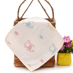 4PCS 100% cotton 6 Layers Double-sided Gauze Newborn baby Child face bath wash towel handkerchief Random 25*25cm