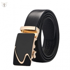 Taotao Fashion-Men Leather Belt Cowhide Leather Belt Gift box packaging black