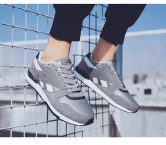 Men's Sports Shoes Leisure Shoes Running Shoes Fashion Sneakers gray 39