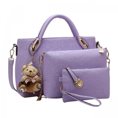 Handbag 5 colors Classic Fashion Women Luxury Handbag PU Leather Genuine Bags blue as show