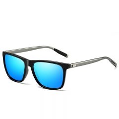 Hot style men and women polarized aluminum and magnesium cycling vintage polarized glasses Blue As Show