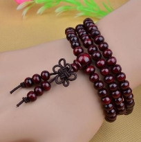 Hot selling 108 small leaf red sandalwood beads bracelet strings Image type one size