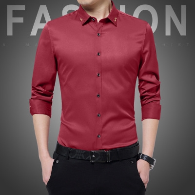 1bc6206b Plus Size New Men's Shirts Wedding Party Dress Shirt Long Sleeve ...