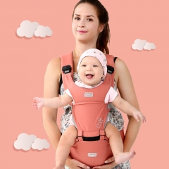 A multi-function baby strap with cotton front cuddle stool pink one size