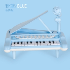 Electronic organ multi-function piano instrument can connect mobile phone with microphone blue one size