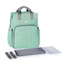 A new arrival fashion diaper bag Waterproof baby bag with large capacity green 23*12*36cm