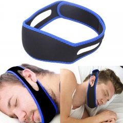 Head-mounted Sleep Apnea Belt Keep stop snoring Buy one get two Blue and Black one size