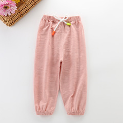 2019 New Cotton Anti-mosquito short pants for kids boy and girls Pink 90 cm