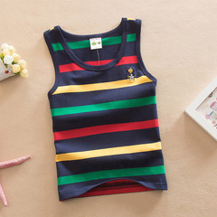 Baby Kids Cotton bottom shirt Vest With color stripe 2 100 cm