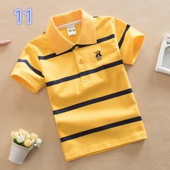 Kids boys and girls short sleeve cotton tee shirt polo shirt 11 140 cm