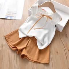 2019 Summer Girl Sleeveless top and short pants set 1 90 cm