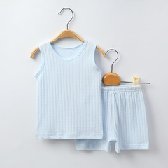 Summer Light Cottonn baby boy girl Sleeveless bottom clothing tank top and pant 1 66