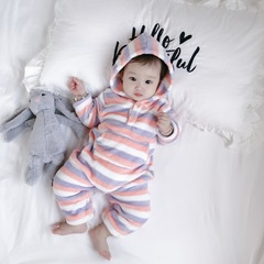Baby Boy and girl flannel sleepwear body suit keep warm 1 66 cm