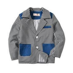 2019 New design Boy Stripe pocket Suit two colors 2 150 cm