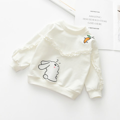 2019 New Kids long sleeve lovely round neck cotton girl top 1 90 cm
