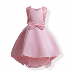 Fancy Baby Dress Girl Clothes Baby Clothing Part Dress Wedding Dress pink 120#