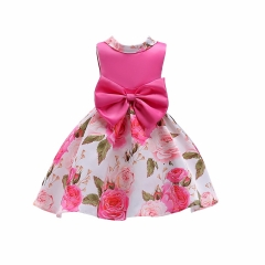 Baby dress party dress fashionable dress hot sale high class children clothes classical red 120#