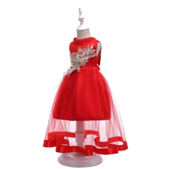 Girl Dress Children Clothes Baby Clothes Christmas Dress New Year Dress classical red 100#