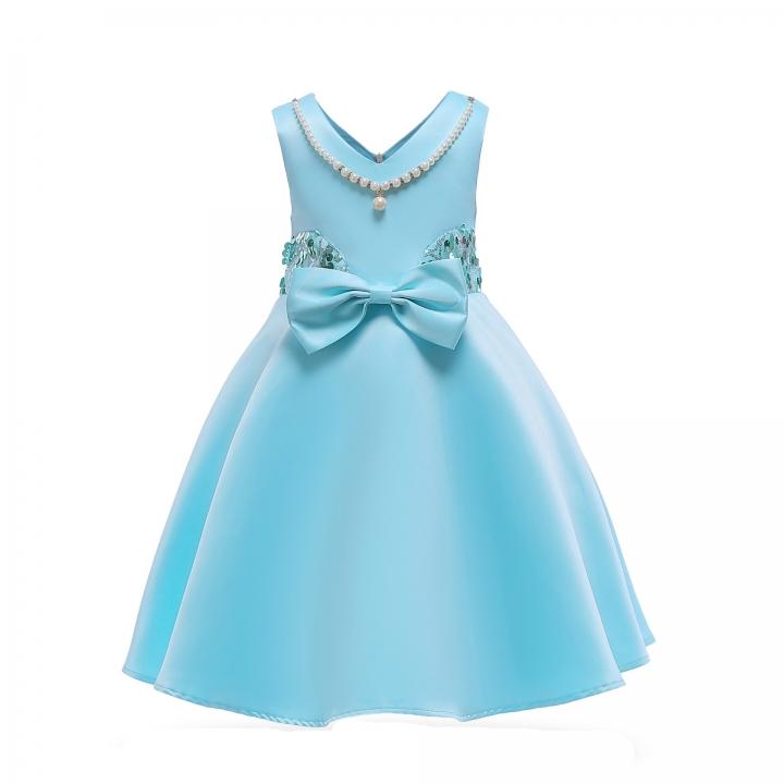 22e8613cd 2018 Children clothes girl dress formal dress wedding dress Christmas dress  New Year Dress light blue